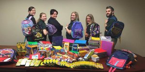 Employees Donate School Supplies For Local Students