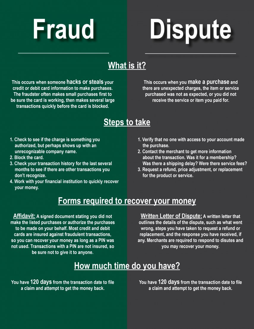 Fraud vs  Dispute: What's the Difference? - Financial 4 0