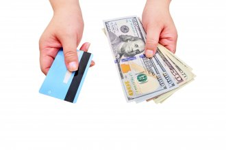 View Spending Cash vs. Paying with Card