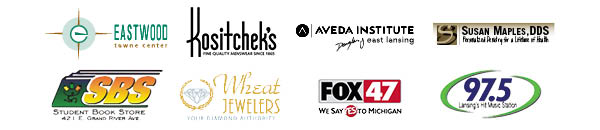 Thank you to our 2015 MSUFCU Graduate Makeover sponsors: Kositchek's, Eastwood Towne Center, Douglas J Aveda Institute, Douglas J  Salon, the Student Bookstore, and Wheat Jewelers