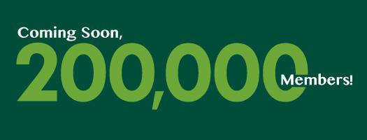 Coming soon: 200,000 members!
