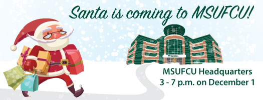 Santa is coming to the Credit Union!