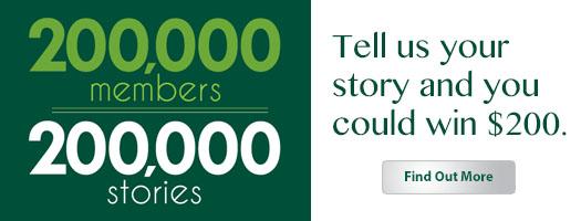 200,000 Members. 200,000 Stories