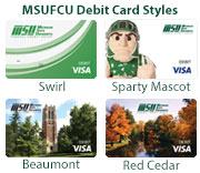 MSUFCU Visa Debit Card Styles