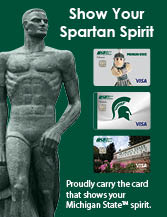 Show Your Spartan Spirit with MSUFCU's Spartan Credit Card