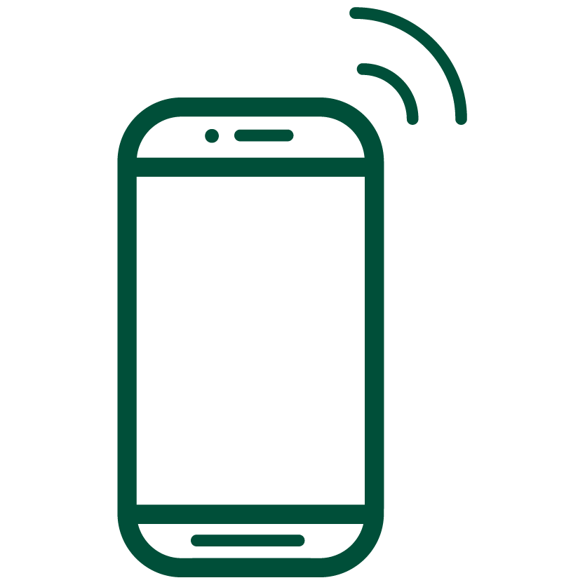 An image of a phone icon
